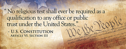 US Constitution, Article VI, Section III